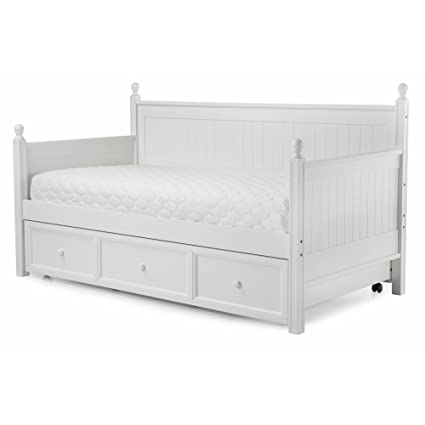 Amazon.com: Casey II Wood Daybed with Ball Finials and Roll Out