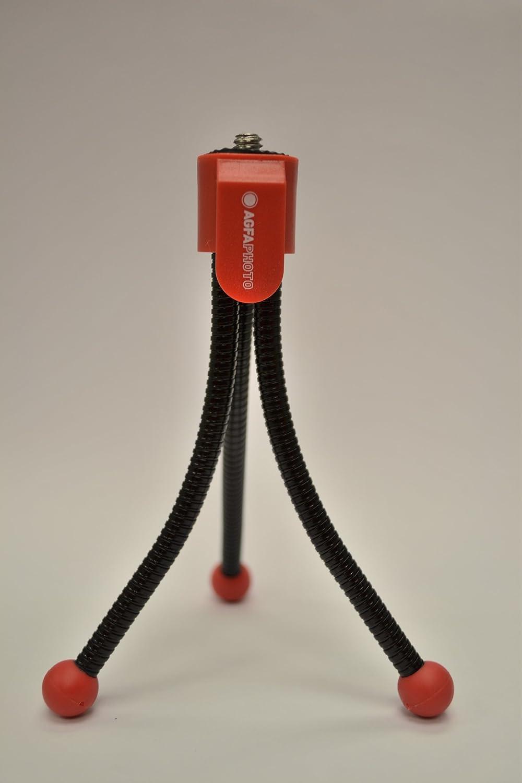 Red Agfa Photo 5 Inch Flexible Mini Tripod