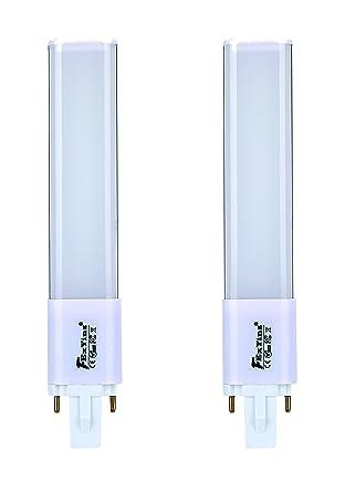 FExYinz Pack de 2 bombillas LED G23 de doble cara 6 W blanco frío 6000 K