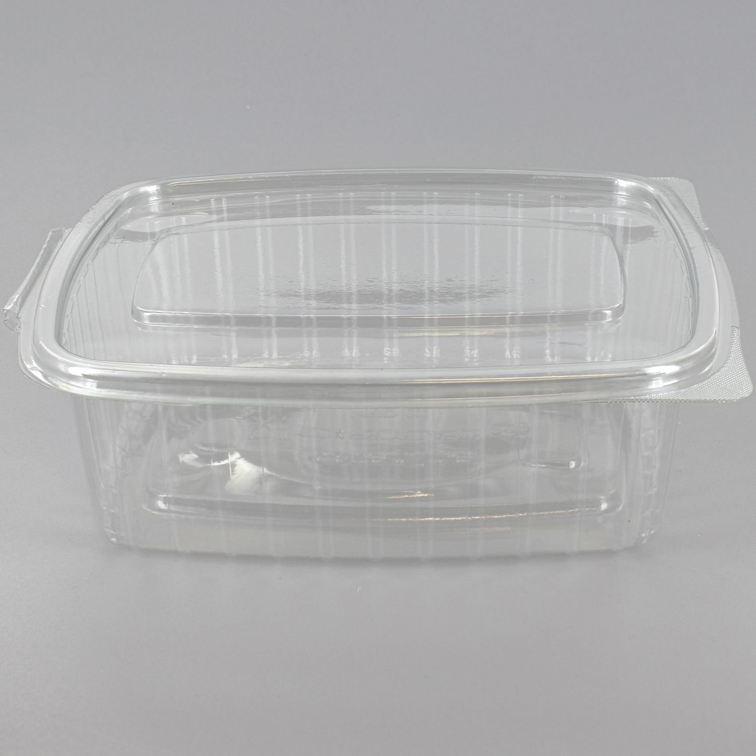 Deli Supplies 100 x 750cc Caterbox Clear Hinged Container Salads Pasta Salad Seafood Salad Box delisupplies