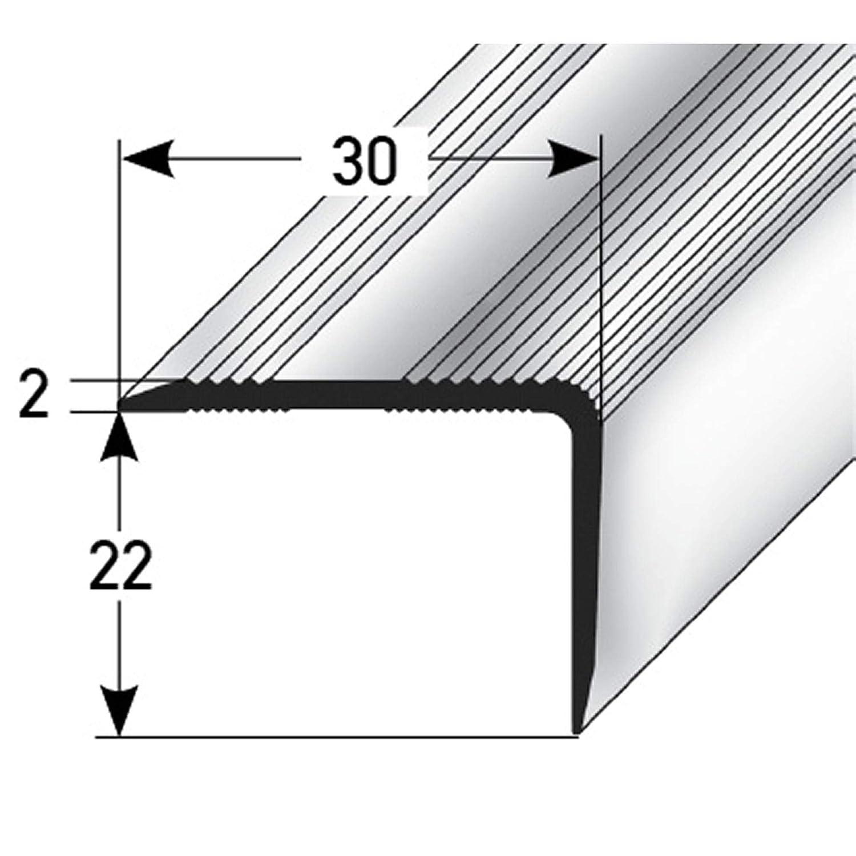 bronzo scuro 22x30 mm Angolo della scala 100cm autoadesivo Profilo per scale Bordo della scala Profilo passaggio