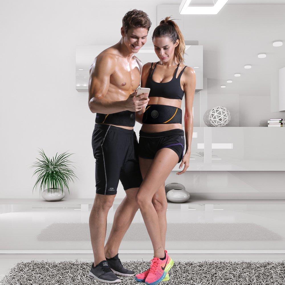Dernière version 2018 Ailida Appareil Abdominal, Smart Ceinture Abdominal  Massage Musculaire Bras Multiple Endroit Fitness ou ... 6fab1762c01