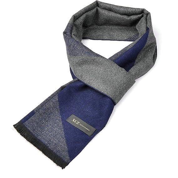 new style 5fc4f f8f6a Aooaz Sciarpa per uomo Donna British Style Lattice Blue ...