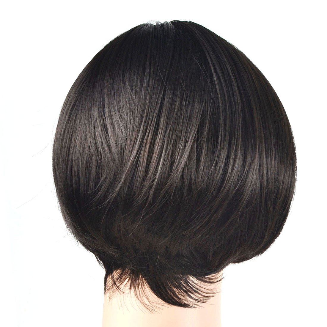 Coolsky Wig OL Short Black Woman Hair For Party or Daily Life Cosplay by COOLSKY (Image #5)