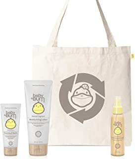 product image for Baby Bum Duke's After Bath Set | Baby and Toddler Gift Set with Moisturizing Body Lotion, Hydrating Coconut Balm and Hair Detangler