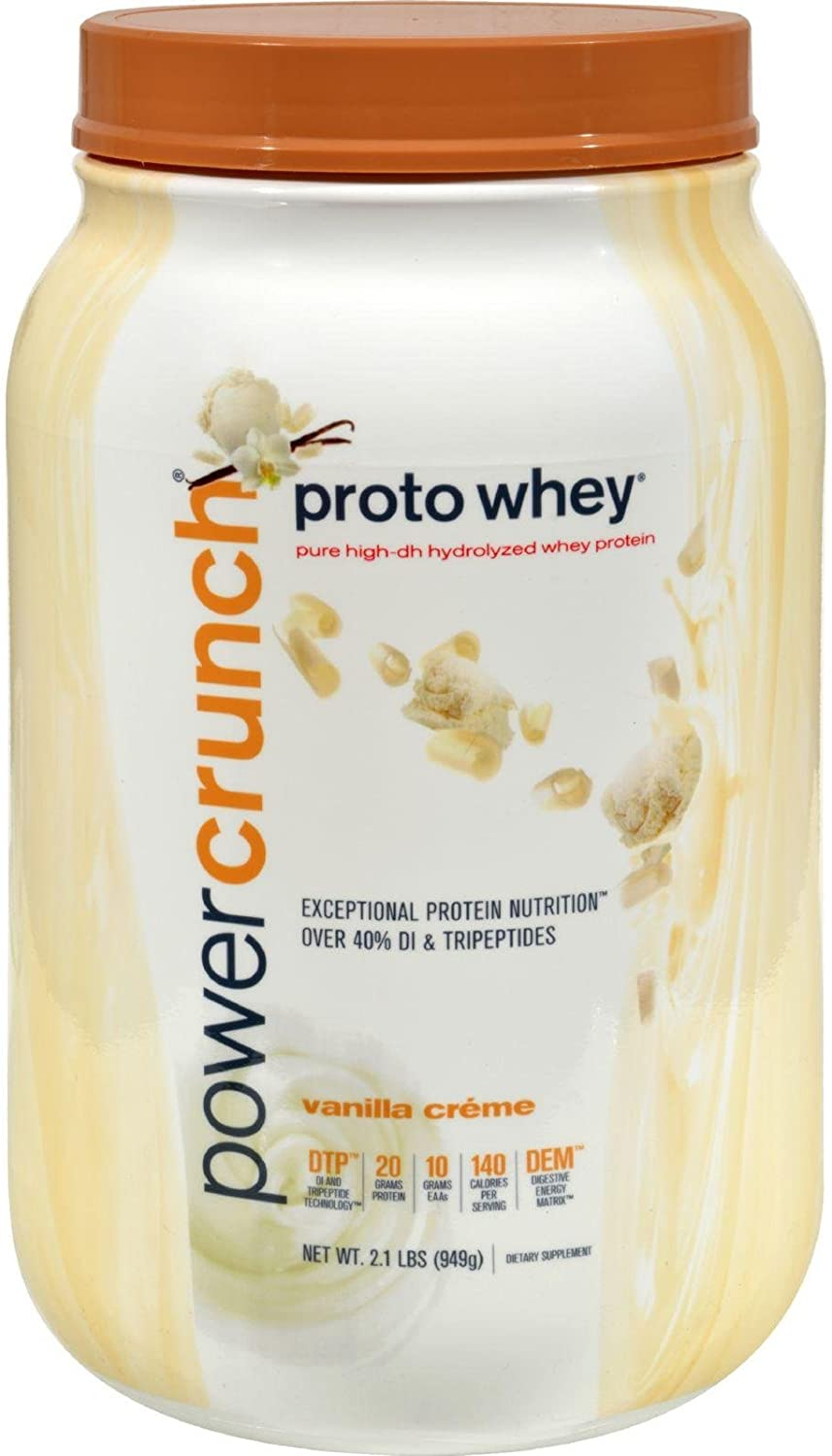POWER CRUNCH WHEY PROTEIN,VANLLA CREME, 2 LB