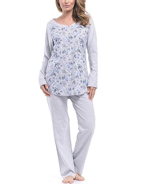 dn-nightwear - Pijama - Pijama - Manga Larga - para Mujer Grey Blue X