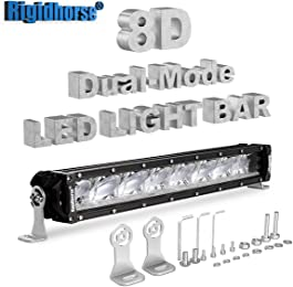 LED Light Bar Rigidhorse 20 Inch 139W 8D Dual-Model Light Bar DRL/Night Light Spot Light For SUV Truck ATV Pickup