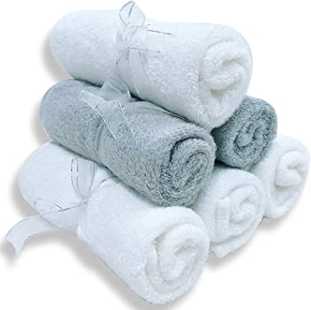 6-Set Sweet Dolphine Premium Bamboo Wash Cloth