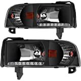 AUTOSAVER88 DRL Projector Headlight Assembly Compatible with 94-01 Dodge Ram 1500/94-02 Dodge Ram 2500 3500 Pickup…