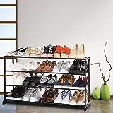 Wakrays High Quality 4/7/10 Tier Storage Organizer Free Standing Shoe Tower Rack White, Black,USA
