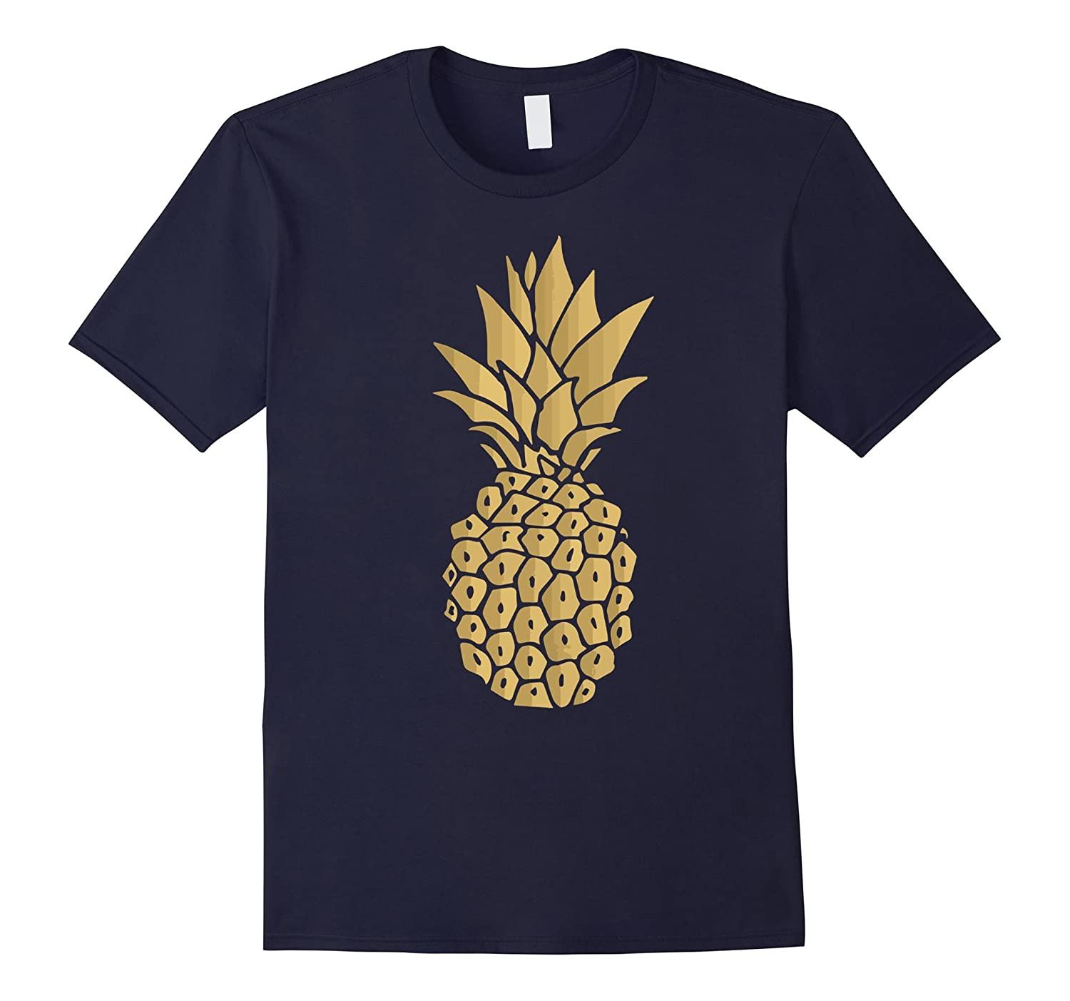 Gold Pineapple Shirt Funny Hawaii Shirt For Men-T-Shirt