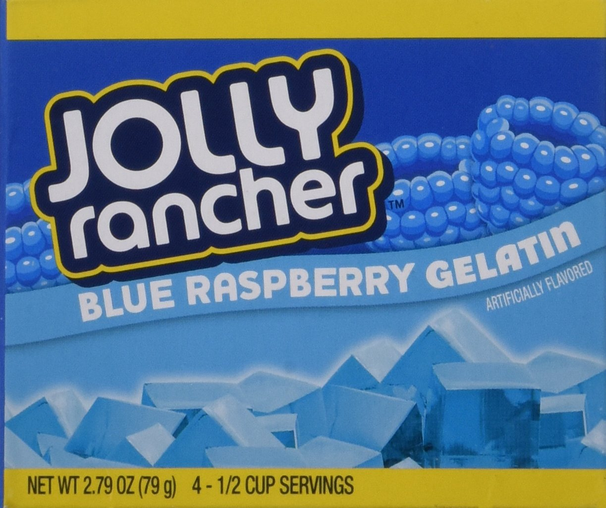 JOLLY RANCHER Blue Raspberry Gelatin Jello 2.79 oz (Pack of 4)