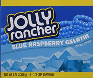 JOLLY RANCHER Blue Raspberry Gelatin Jello 2.79 oz (Pack of 4)