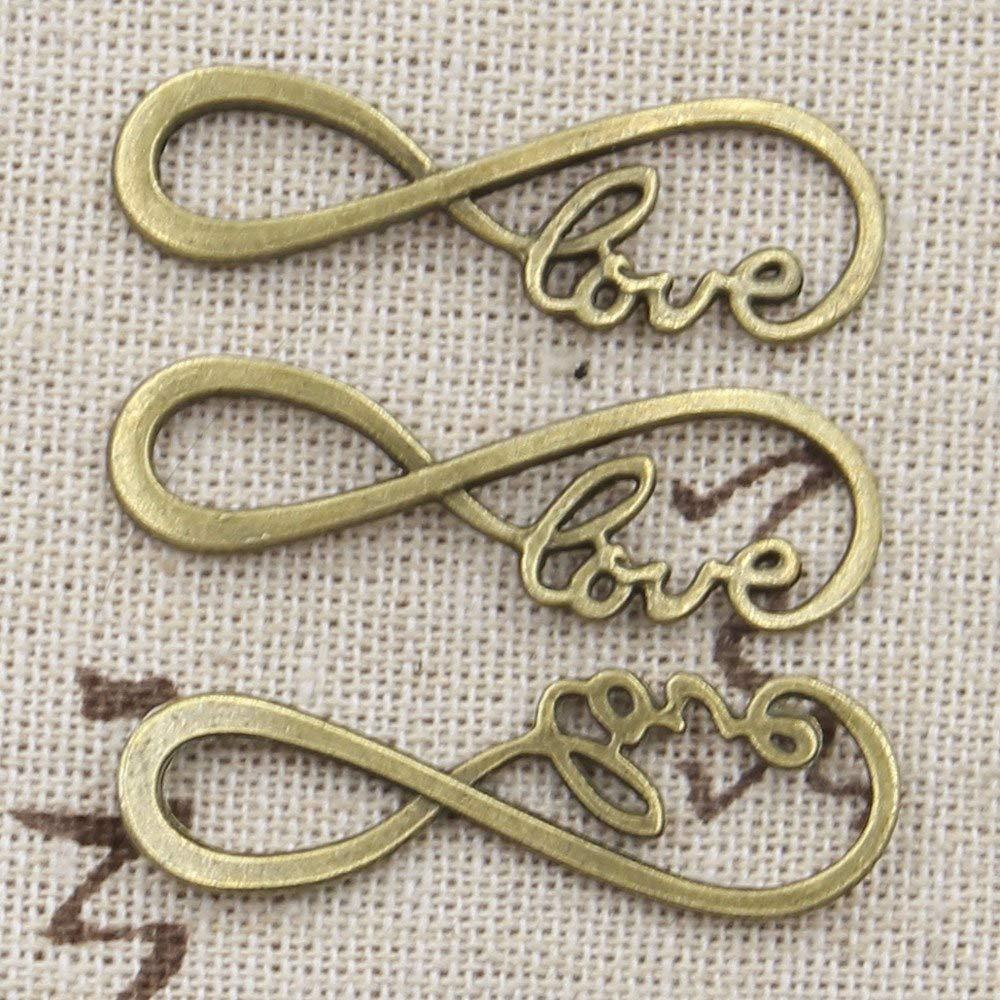 Alphabet  Love Pendant Connector Silver Plated 10pcs.
