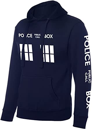 Inspiré Doctor Who Police Box Sweat à capuche