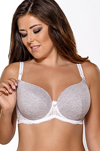 Ava 1570 underwired maternity nursing bra padded cups lace smooth at Amazon Womens Clothing store: