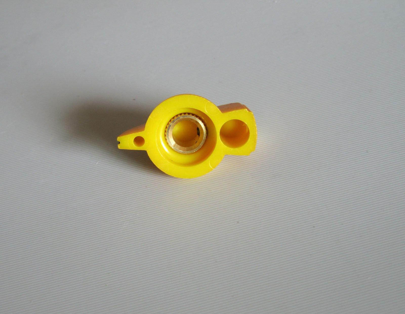 Brass Insert Guitar Chicken Head Knob AMP Effect Pointer Knob, 12 Pcs Gold