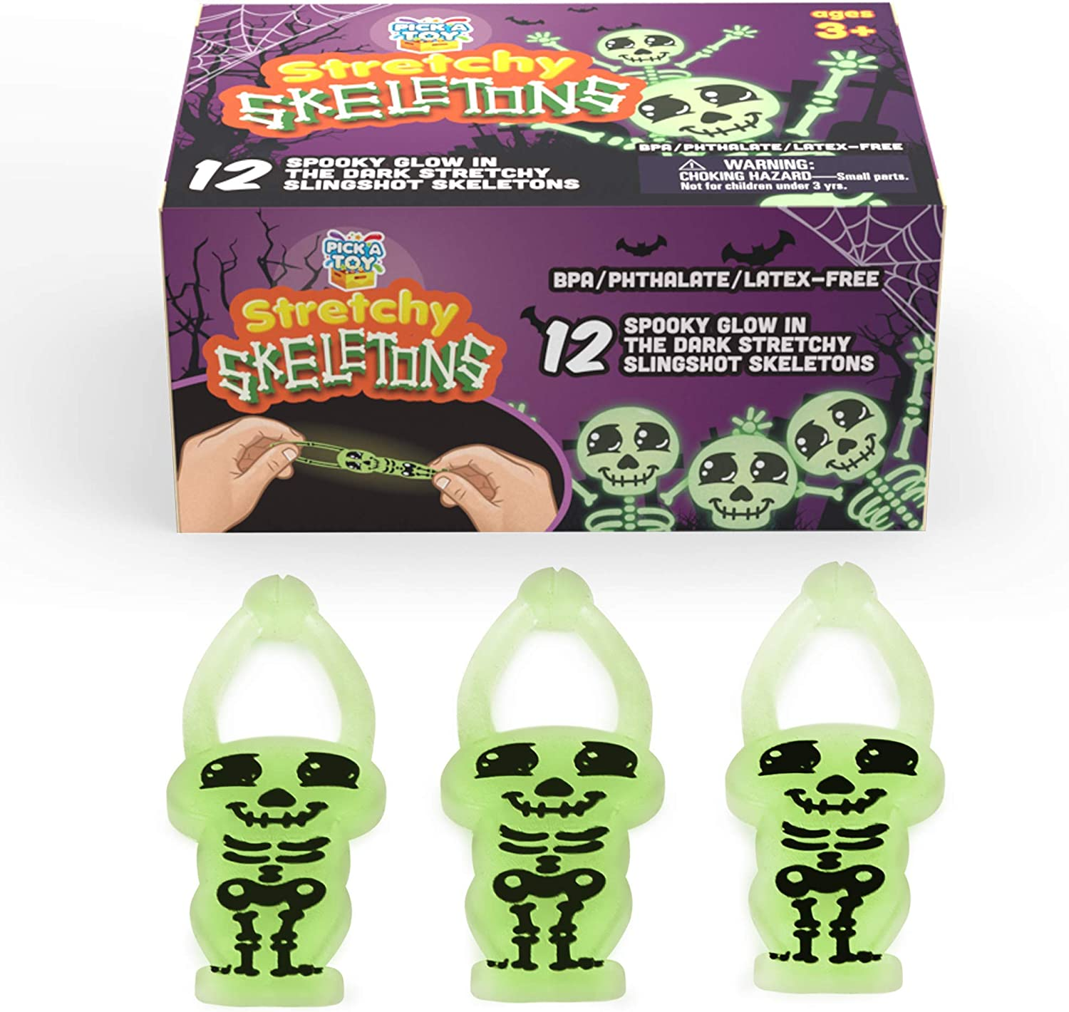 Stretchy Skeletons Boys Girls Kids Party Bag Fillers Pinata Toys