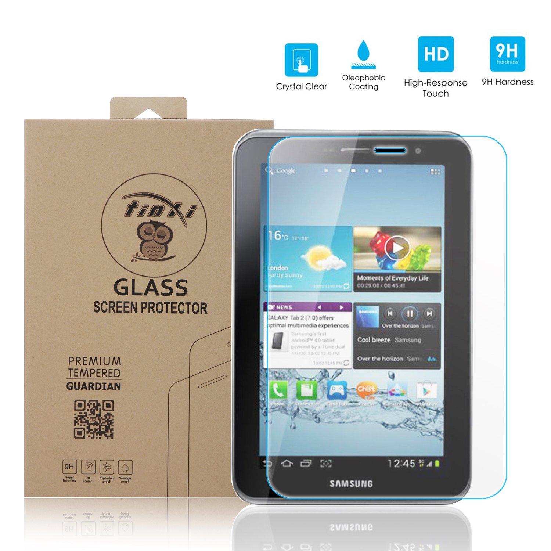 tinxi® Protector de Vidrio Templado de Vidrio Templado para Samsung Galaxy Tab 2 7.0 P3110 Prima Protector de Pantalla Protector de Pantalla Ultra ...