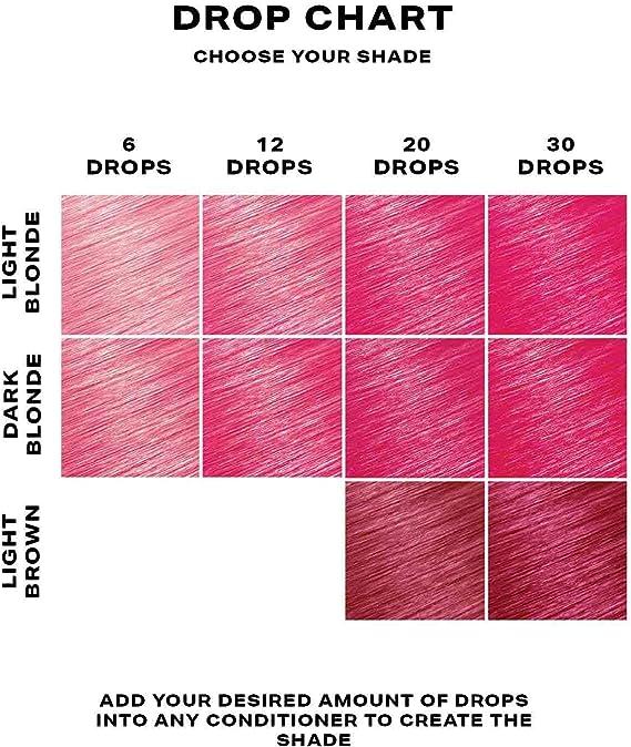 SHRINE Drop It Gotas Tinte Capilar Semipermanente, Rosa 20 ml