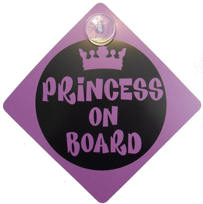 Princesse sur planche de sécurité enfant Comprend 1ventouse pour votre voiture vechicle Signes Grids London