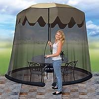 Ideaworks JB5678 Outdoor 9-Foot Umbrella Table Screen (Black)