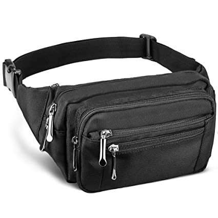 8f25dd9379fd DYJ Waist Pack Bag with Rain Cover, Large Capacity Fanny Pack for Men&Women  Hip Bum Bag with Adjustable Strap for Outdoors Workout Traveling Casual ...
