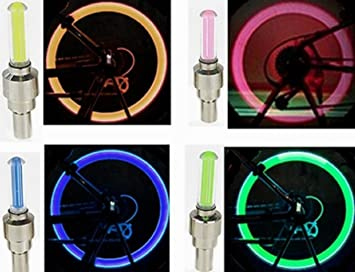 Bicicleta radios de rueda de luz - Iluminar tu con LED luces de colores para seguridad y estilo - 3 unidades, verde: Amazon.es: Deportes y aire libre