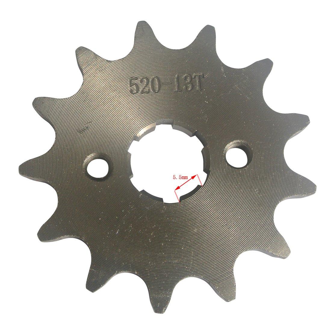 Dirt bike // Pit bike // Mini Moto 10-16 Dents G/én/érique Pignon avant Pour Yamaha Moto Dirt Bike VTT Quad /ø20mm 520