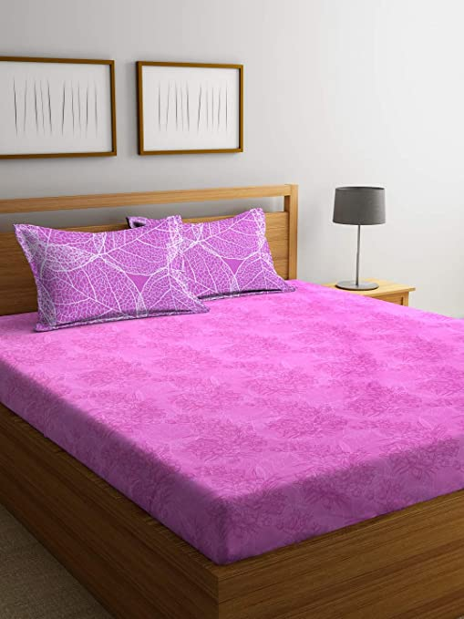 8d586a8e6 Bombay Dyeing 130 TC Polyester and Cotton Double Bedsheet with 2 Pillow  Cover
