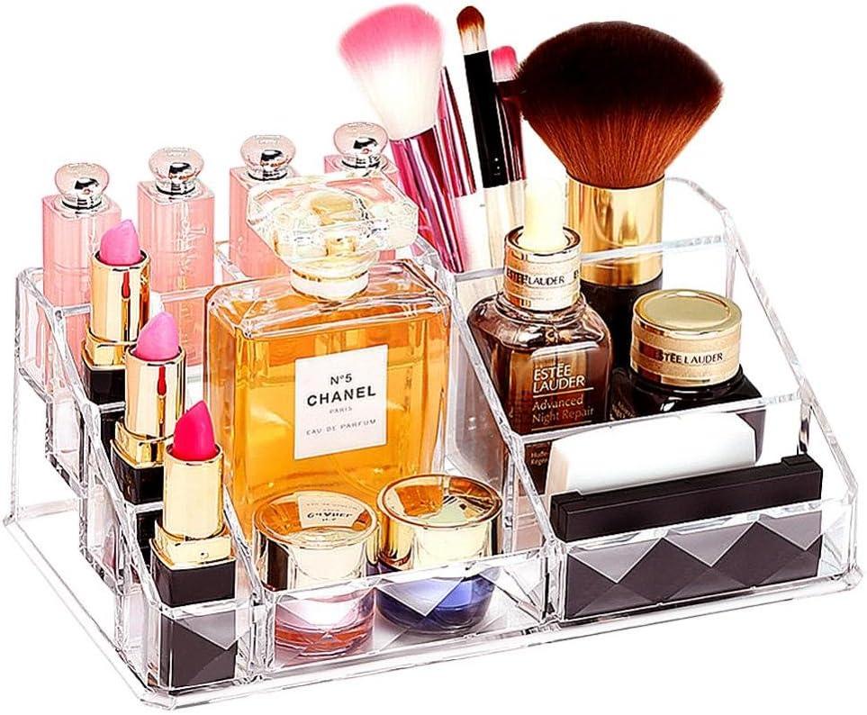 GLOGLOW - Organizador de Maquillaje Transparente, Caja de Almacenamiento de Productos de Belleza acrílica, cajones y Caja expositora para cosméticos: Amazon.es: Hogar