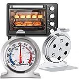 TECHVIDA Termómetro de Cocina para Hornos, Termómetro de Acero Inoxidable para Monitoreo, Termómetro Digital de Horno Fácil L