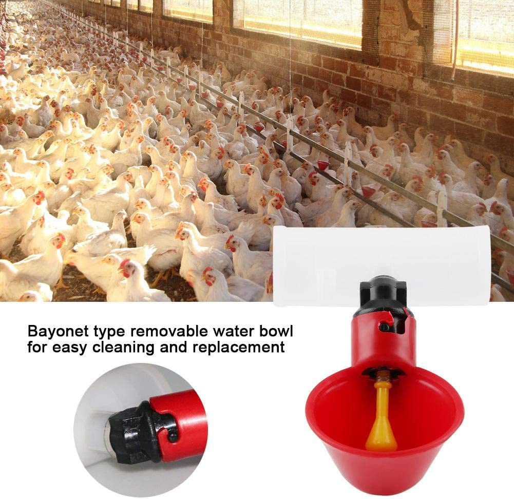5 Pack Automatic Plastic Backyards Poultry Waterer Drinking Cups Chicken Drinker Cups 25mm