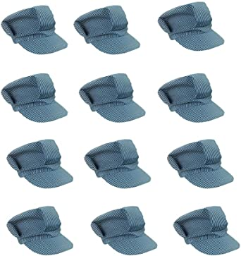 Train Engineer Costume Hats 6 Pack Funny Party Hats p-am196 Adjustable Train Engineer Hats