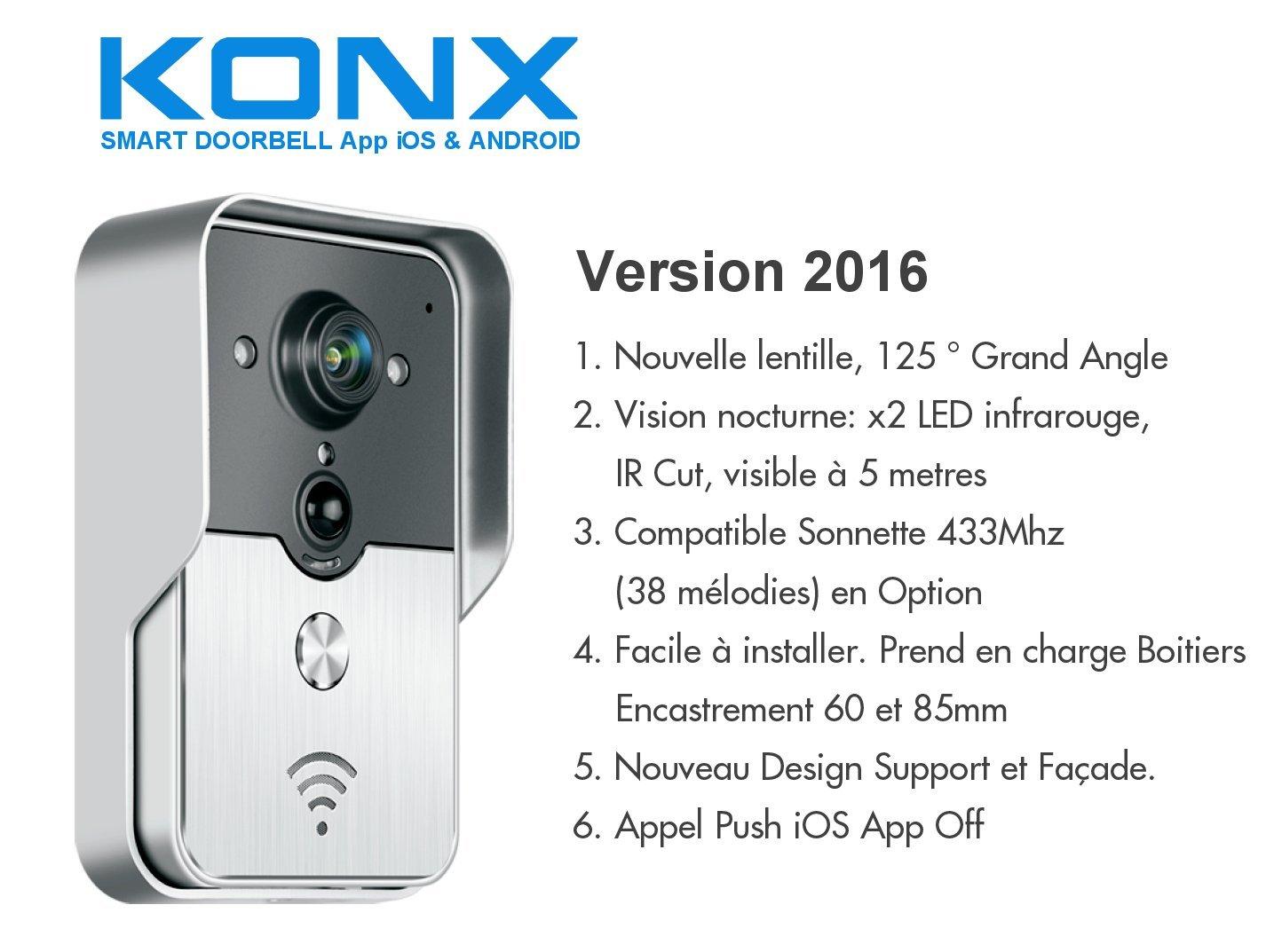 Caractéristiques de l'interphone vidéo Konx