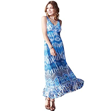 OneWorld Womens Long Wrap Design Sleeveless Elegant Cocktail Evening Party Prom Gown Maxi Dress-L