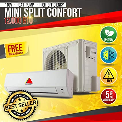 Amazon com: Confort Mini Split 12000BTU System DUCTLESS AC