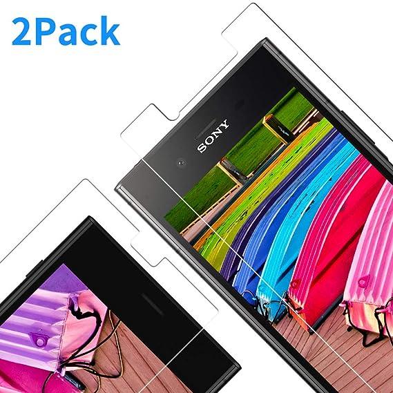 Vkaiy Protector de Pantalla para Sony Xperia XZ2, Cristal Templado para Xperia XZ2, 9H Dureza, Anti Dactilares, Alta Definición, 2.5d Borde Redondo, ...