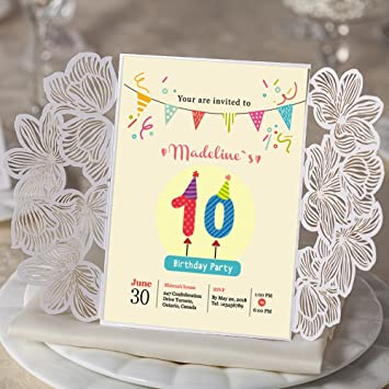 amazon com children birthday invitation invite cards for birthday