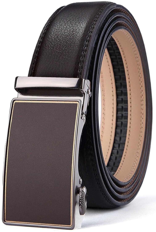 Men's Belt, Bulliant Slide Ratchet Belt for Men with Genuine Leather 1 3/8, Trim to Fit Men' s Belt