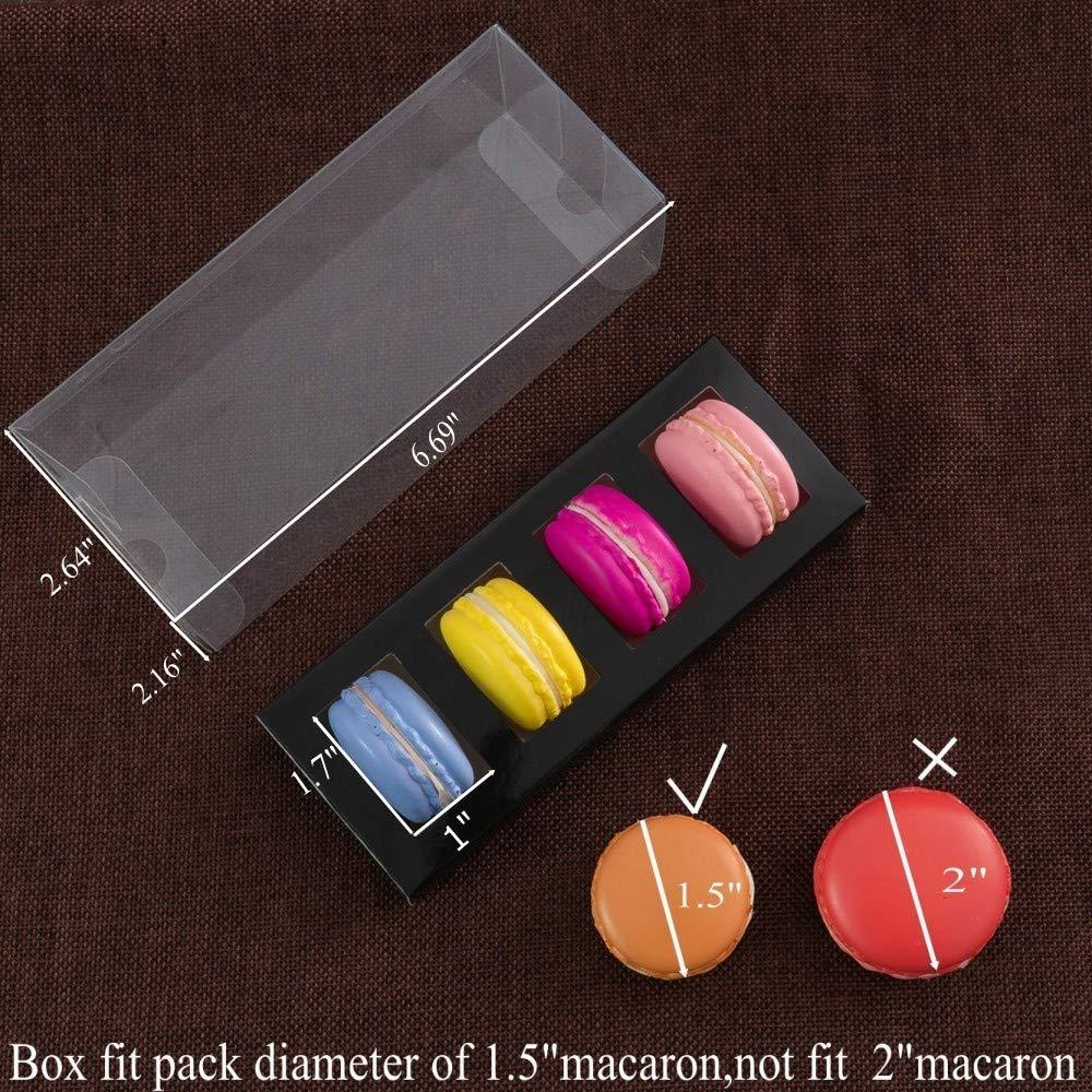 20pcs Brown 4 Macaron Box Kraft Macaron Boxes For Kids Party Favor Box RomanticBaking