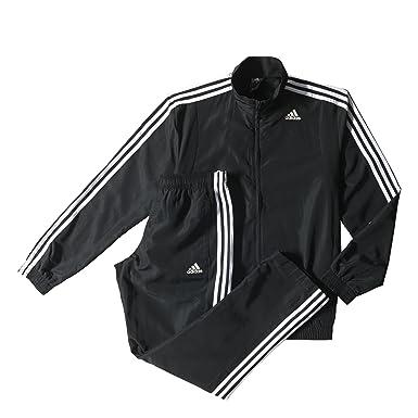 5fa26b6d3294 adidas TS Basic 3S Tracksuit Men, Men, Black White, Size 34 Inches