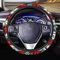 NDISTIN Red Aztec Steering Wheel Cover Native Indian Auto Interior Universal Car Accessories Neoprene Anti-Slip Car…