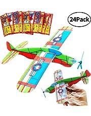 BESTZY Glider Planes, Plane Glider, Foam Glider Plane, Glider Plane Toy Gliding Flugzeuge für Kinder ALS Preis und Geschenk für den Kindergeburtstag (Glider Plane 24P)