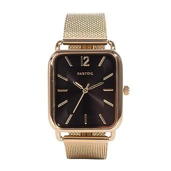 Parfois - Reloj Square Golden Metal - Mujeres - Tallas Única - Dorado: Amazon.es: Relojes