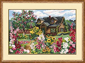 """RIOLIS 978 - Flowering Garden - Counted Cross Stitch Kit 15"""" x 10.25"""" Zweigart 15ct. White AIDA 25 Colors"""