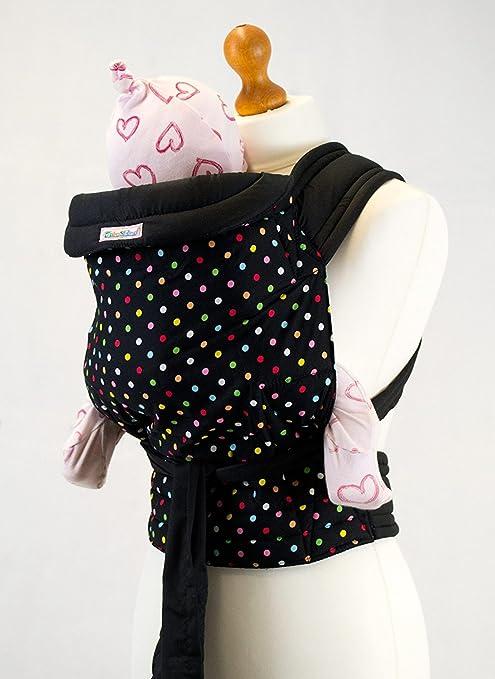 2207d4d9a7e Palm and Pond Mei Tai Sling - Black   Multi Polka Dots Black  Amazon.co.uk   Baby
