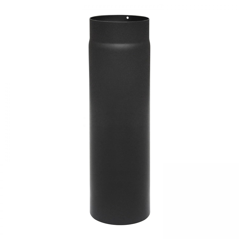 Raik SH003-180-SW flue pipe / stove pipe,180 mm - 500 mm long, black