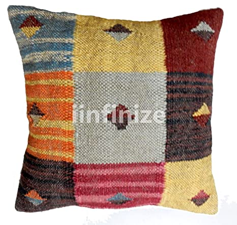 Brilliant Amazon Com Iinfinize Cover Size 18X18 Hand Woven Wool Jute Caraccident5 Cool Chair Designs And Ideas Caraccident5Info